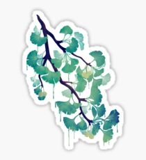 O Ginkgo (in Green) Sticker