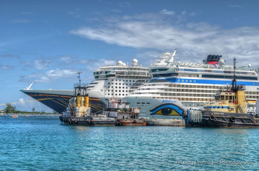 Cruise ships at the prince george port in nassau the bahamas by jeremy lavender photography - Cruise port nassau bahamas ...