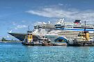 Cruise Ships at the Prince George Port in Nassau, The Bahamas by Jeremy Lavender Photography