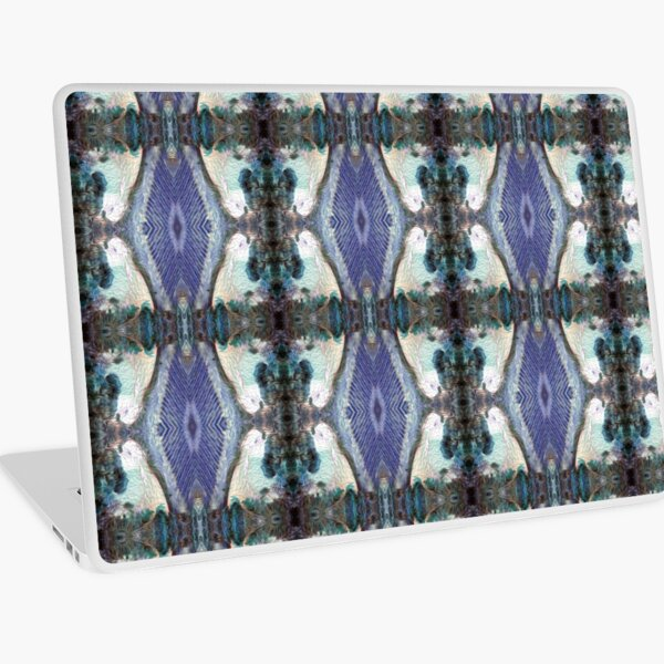 Lilly Pond and Vines in blue by South Australian artist Avril Thomas Laptop Skin