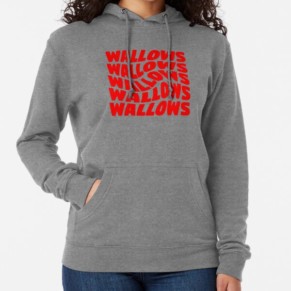 red wallows swirl design Lightweight Hoodie