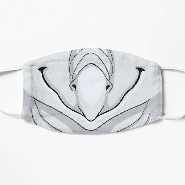 Emotive Silver Dragon - Happy Flat Mask