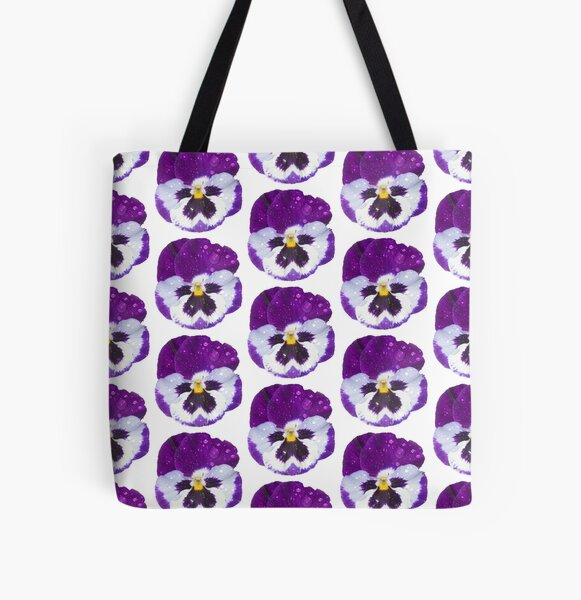 Pansey by South Australian artist Avril Thomas All Over Print Tote Bag