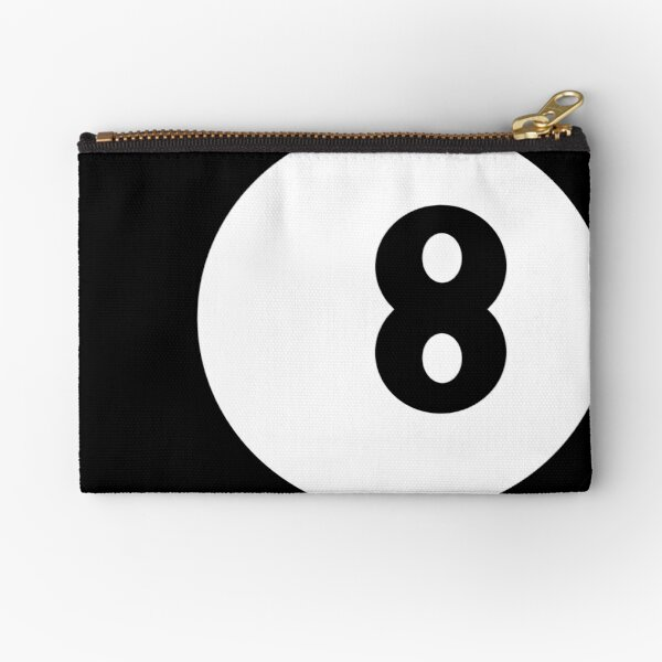 8 ball Zipper Pouch