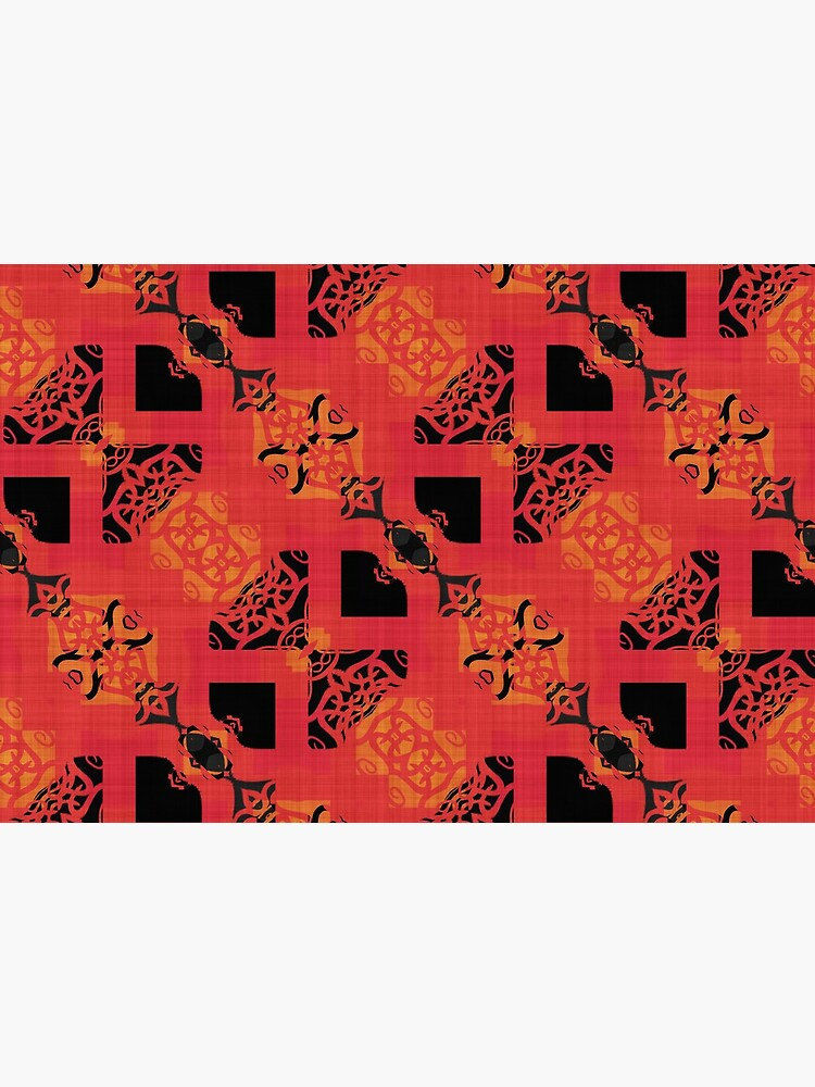 Black Red Gold Chinese Party Cracker Pattern  by RootSquare