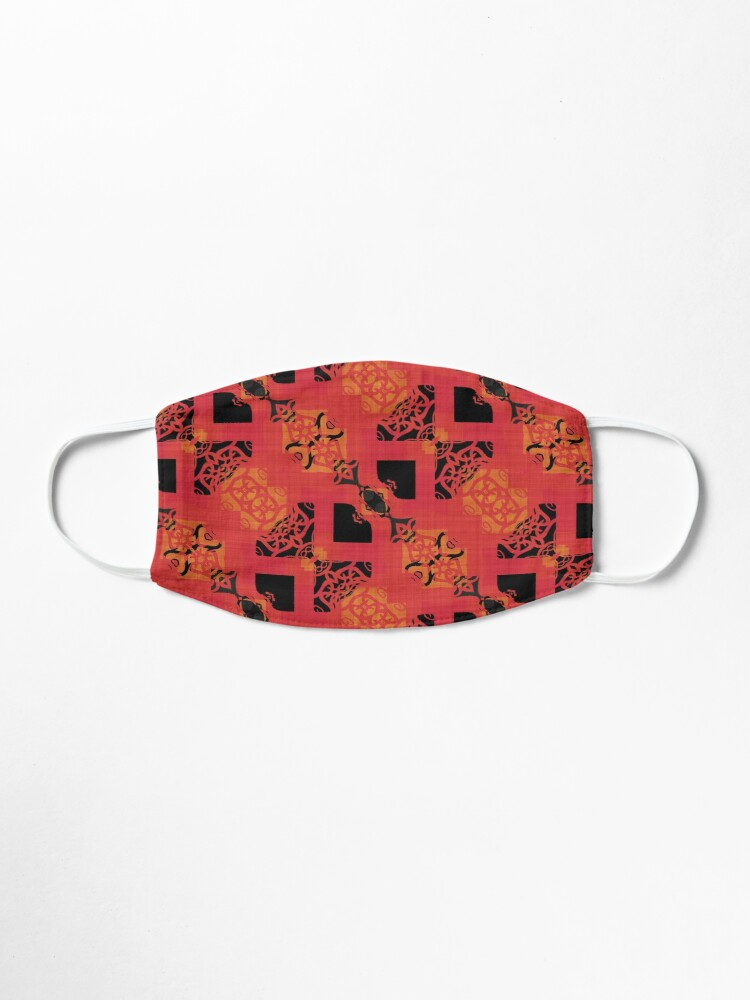 Alternate view of Black Red Gold Chinese Party Cracker Pattern  Mask
