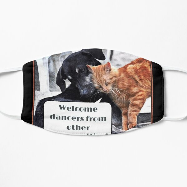 Milonga Cat - Welcome Dancers From Other Communities Mask
