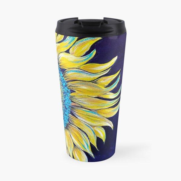 Sunflower on Canvas Travel Mug