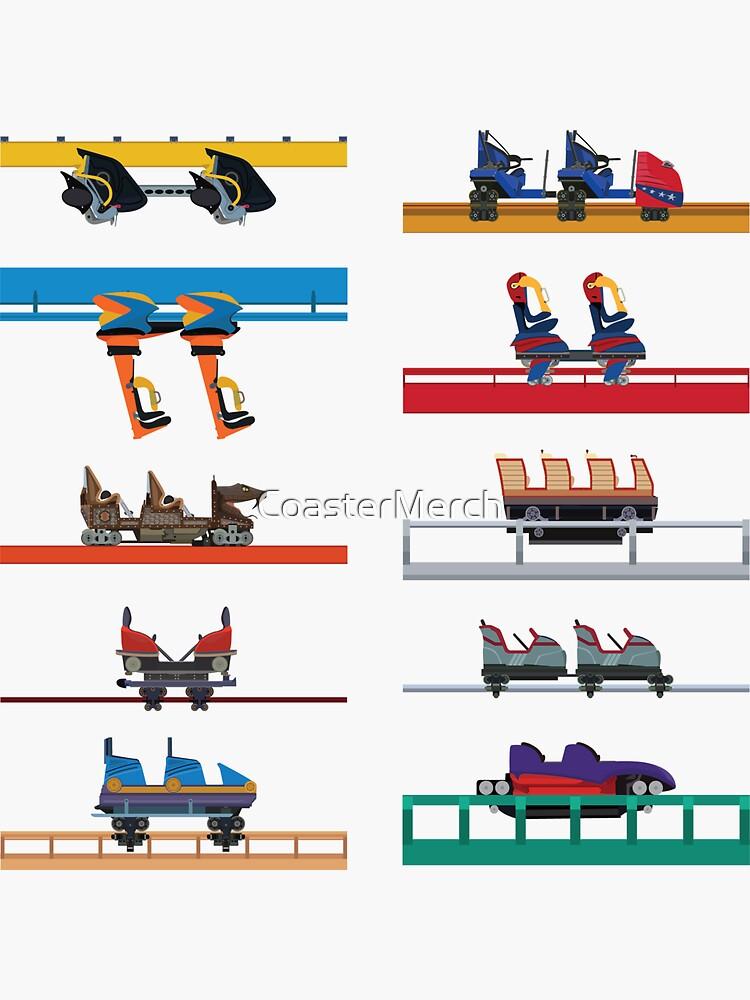 Six Flags Fiesta Texas Coaster Cars Design by CoasterMerch