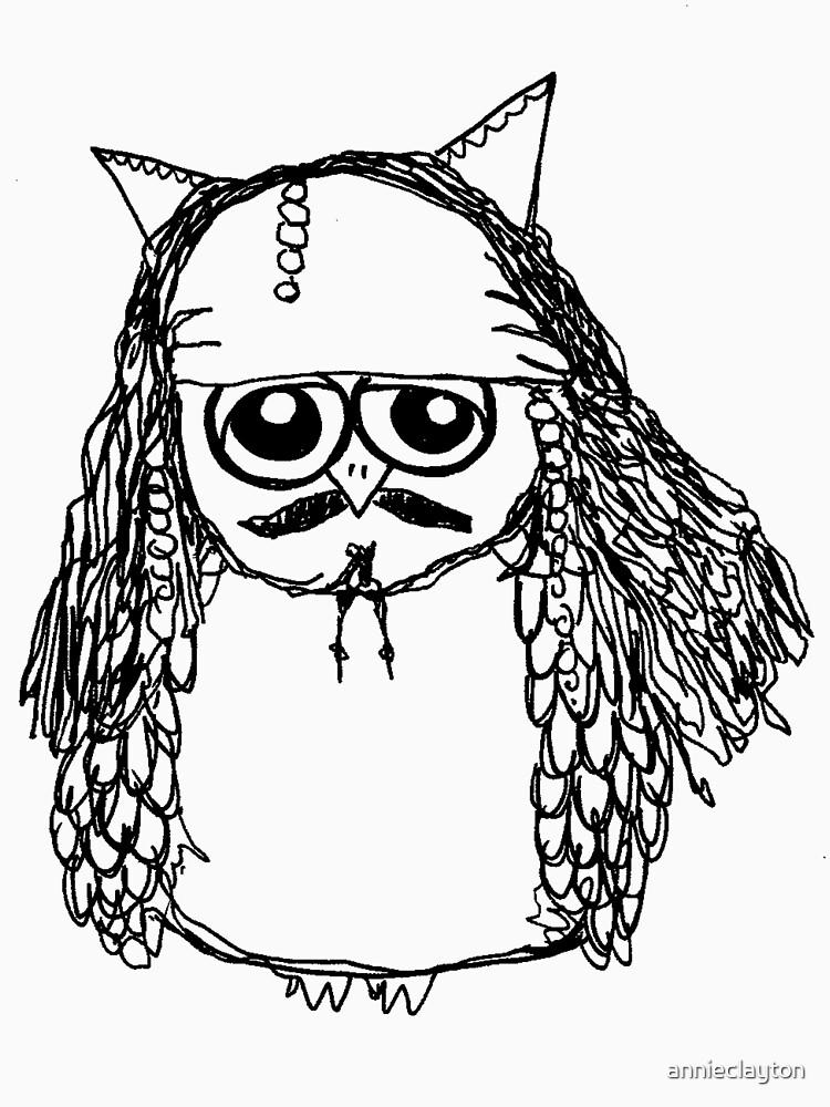 Captain Jack Sparrow Owl by annieclayton