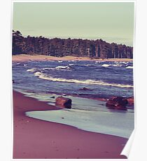 Lake Superior Beach Waves Poster