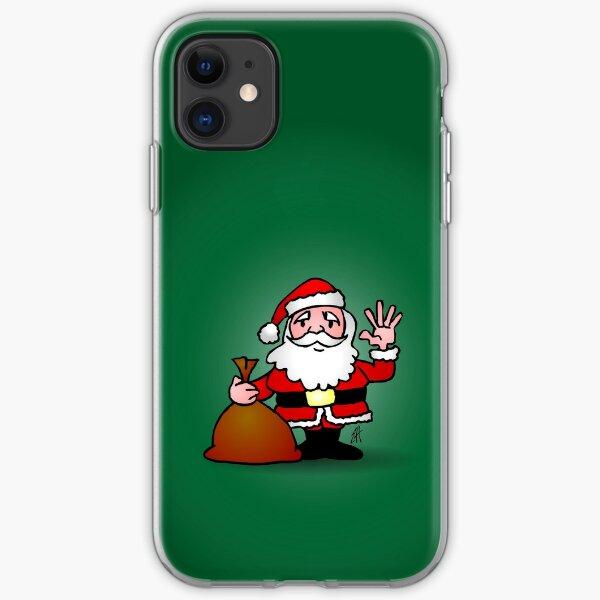 Santa Claus waving iPhone Soft Case