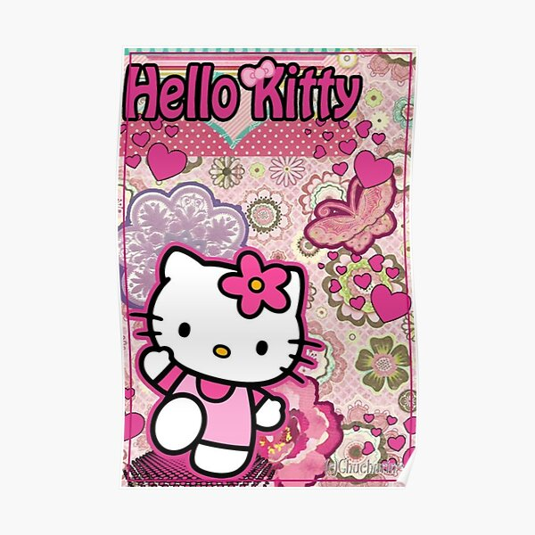 y2k pink kitty aesthetic Poster