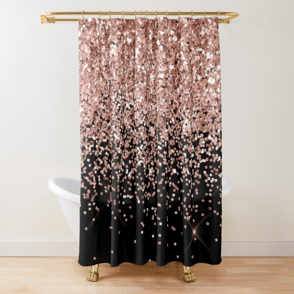 Rose Gold  Glitter  Shower Curtain