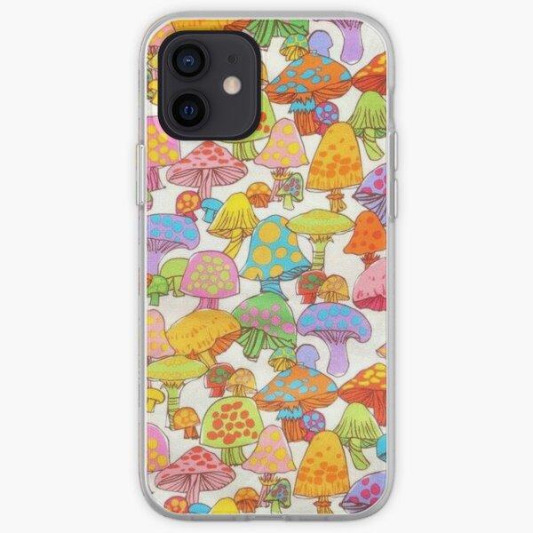 y2k rainbow mushroom iPhone Soft Case