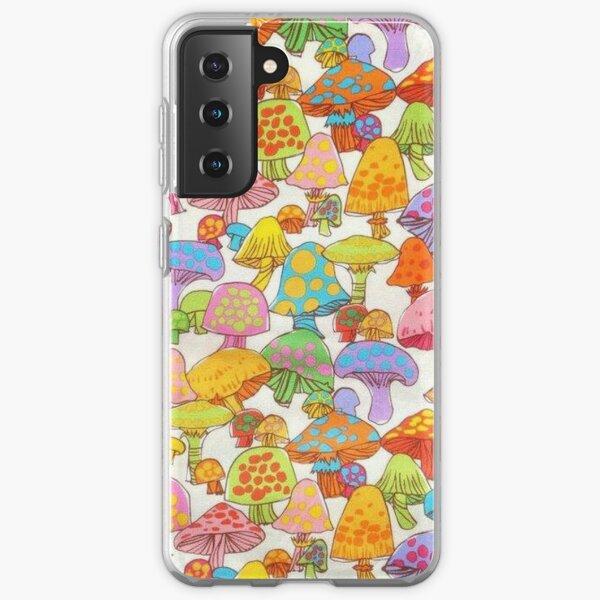 y2k rainbow mushroom Samsung Galaxy Soft Case