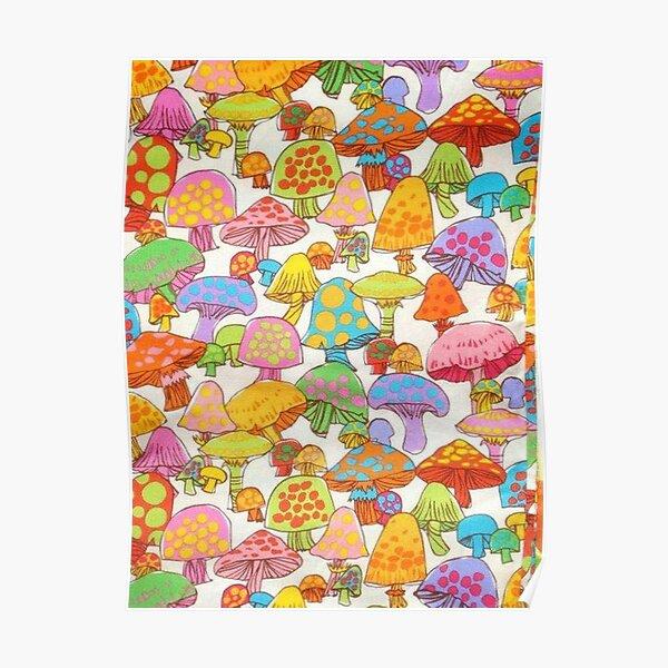 y2k rainbow mushroom Poster