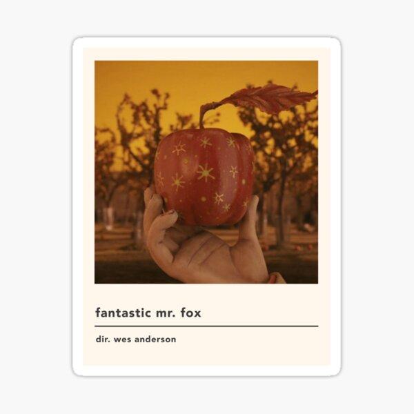 Minimalist Fantastic Mr Fox Movie Poster Sticker By Kylabiles Redbubble