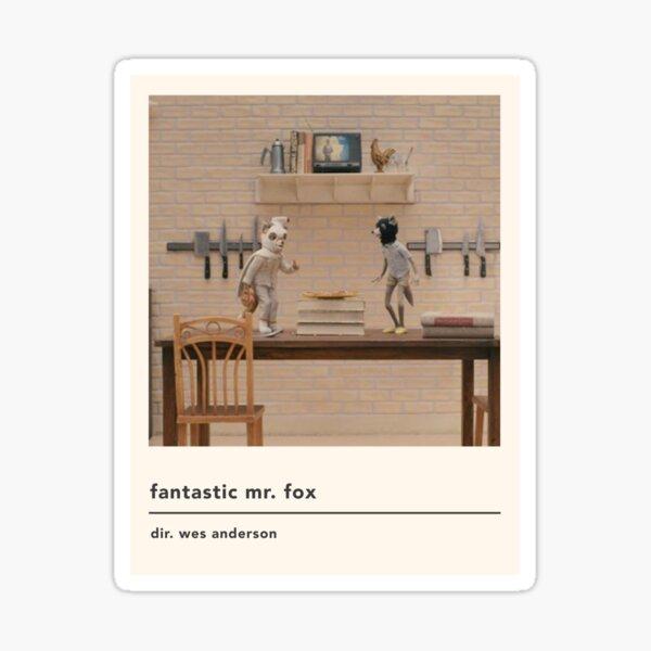 minimalist fantastic mr fox movie poster Sticker