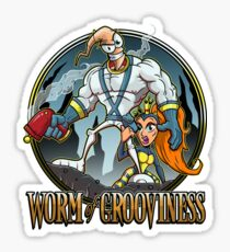 Worm of Grooviness Sticker