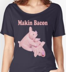 ✾◕‿◕✾ MAKIN BACON TEE SHIRT ✾◕‿◕✾ Women's Relaxed Fit T-Shirt