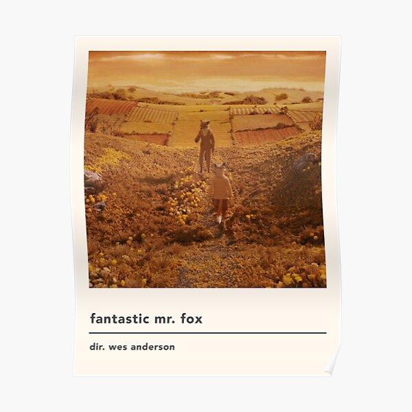 minimalist fantastic mr fox movie poster Poster