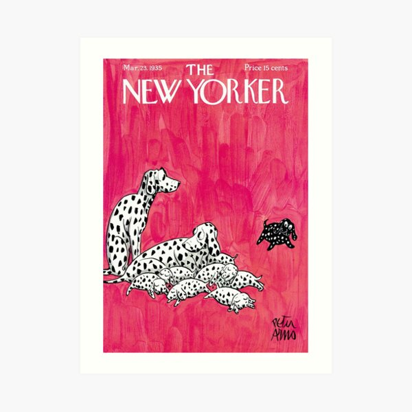 New Yorker Cover, March 1935 Artwork Reproduction for Wall Art, Prints, Posters, Tshirts, Men, Women, Kids Art Print