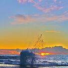 Blowhole At Sunset by Todd Kluczniak