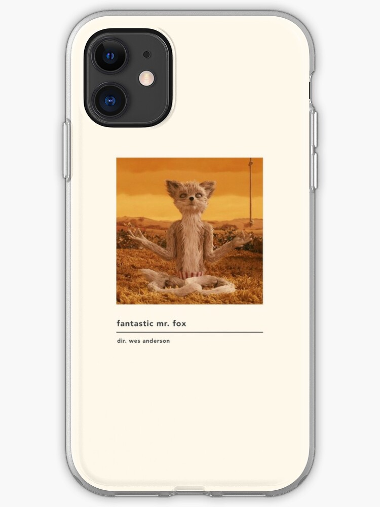 Minimalist Fantastic Mr Fox Movie Poster Iphone Case Cover By Kylabiles Redbubble