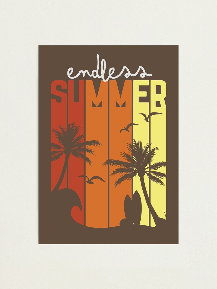 Endless Summer Photographic Print By Metroymedio Redbubble