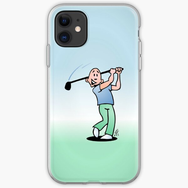 Golf, golfer taking a swing at it. iPhone Soft Case