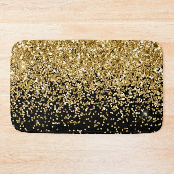 Gold Glitter  Bath Mat