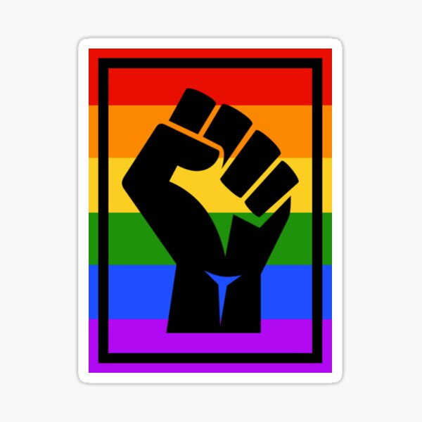 BLM fist - rainbow1 Sticker