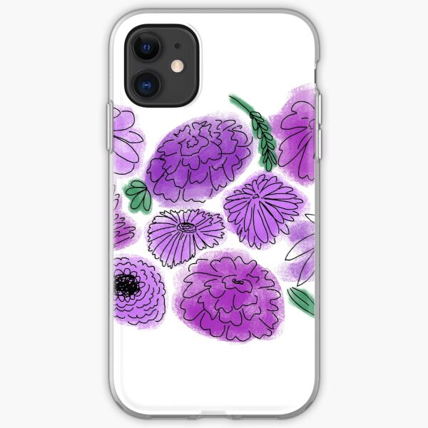 Purple Flowers iPhone Soft Case