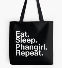 EAT SLEEP PHANGIRL REPEAT Tote Bag