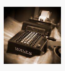 Adding Machine Photographic Print