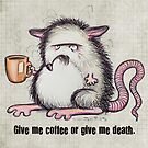 Rat in need of coffee by Sonya Craig