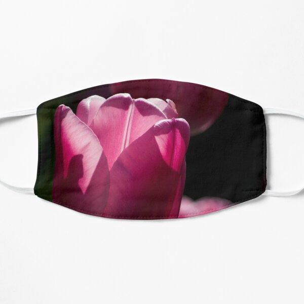 Sunlit Pink Tulips  Mask