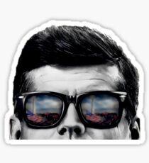 JFK Pop-Art t-shirt (black & White) Sticker