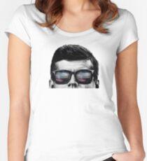 JFK Pop-Art t-shirt (black & White) Women's Fitted Scoop T-Shirt