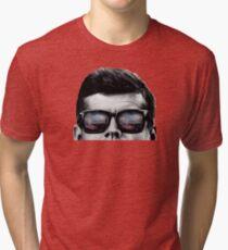 JFK Pop-Art t-shirt (black & White) Tri-blend T-Shirt