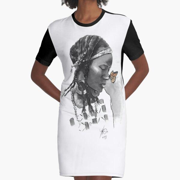 Fulani girl Graphic T-Shirt Dress