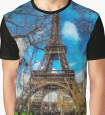 Eiffel Tower in January Graphic T-Shirt