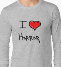i love halloween horror  Long Sleeve T-Shirt