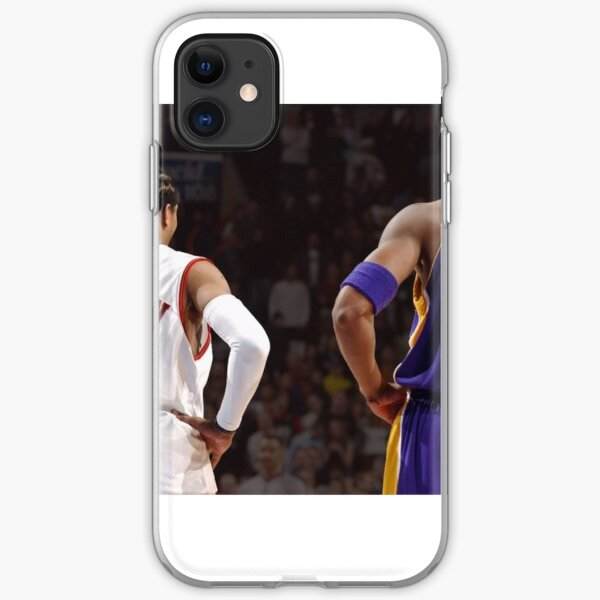 Allen Iverson and Kobe Bryant sharing the basketball court iPhone Soft Case