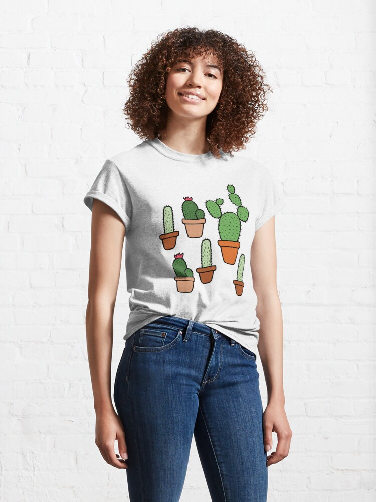 Alternate view of Pink Cactus Pattern Classic T-Shirt