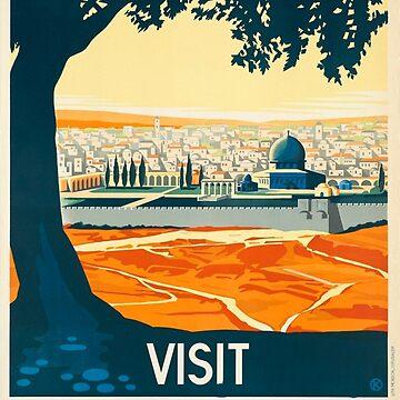 Visit Palestine by vintagegraphics