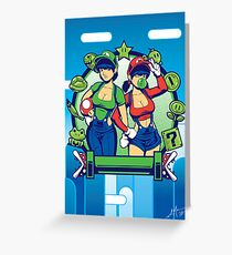 Mario Girls  Greeting Card