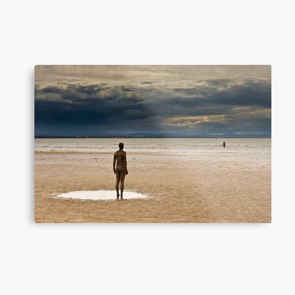 Crosby Beach - Anthony Gormley Statues  Metal Print