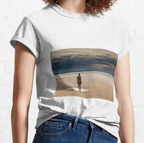 Crosby Beach - Anthony Gormley Statues  Classic T-Shirt